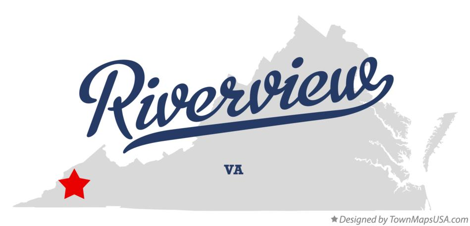 Map of Riverview Virginia VA