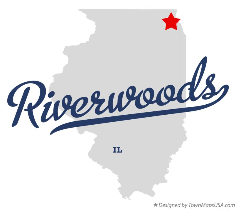 Map of Riverwoods Illinois IL