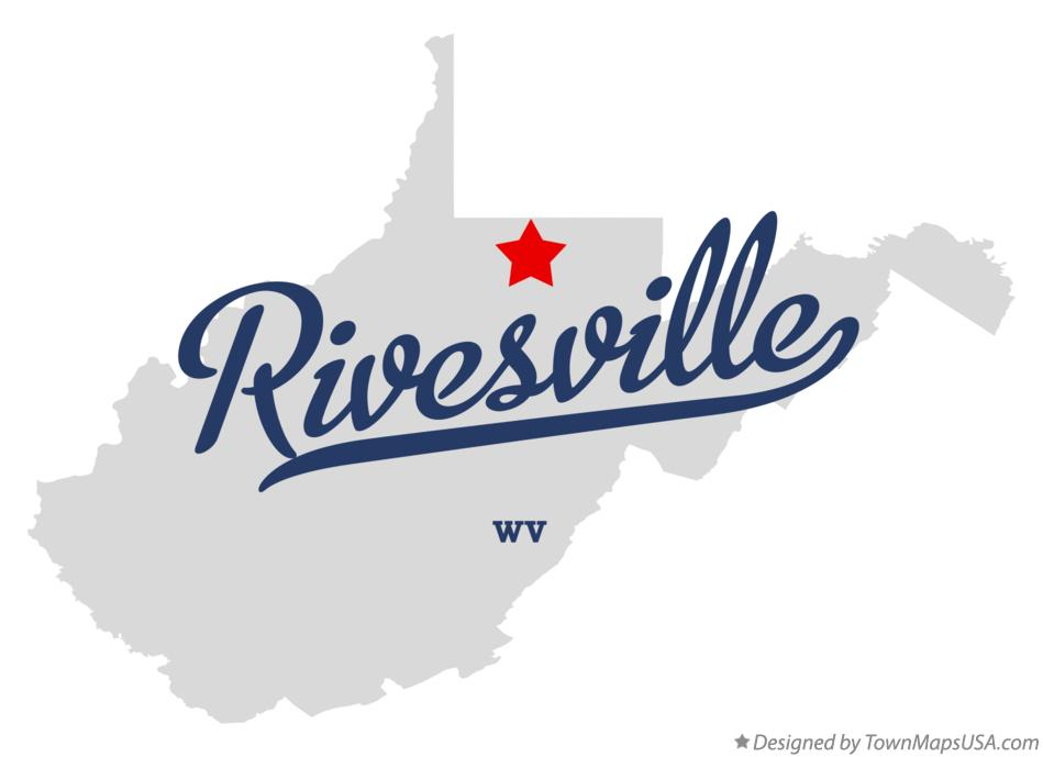 Map of Rivesville West Virginia WV