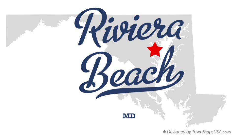 Map of Riviera Beach Maryland MD