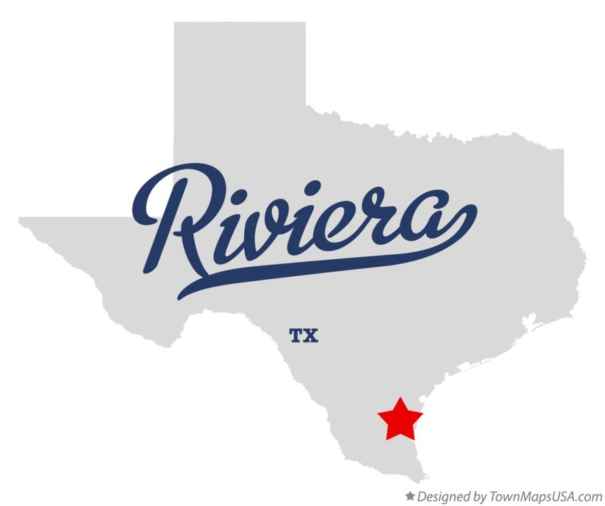 Map of Riviera Texas TX