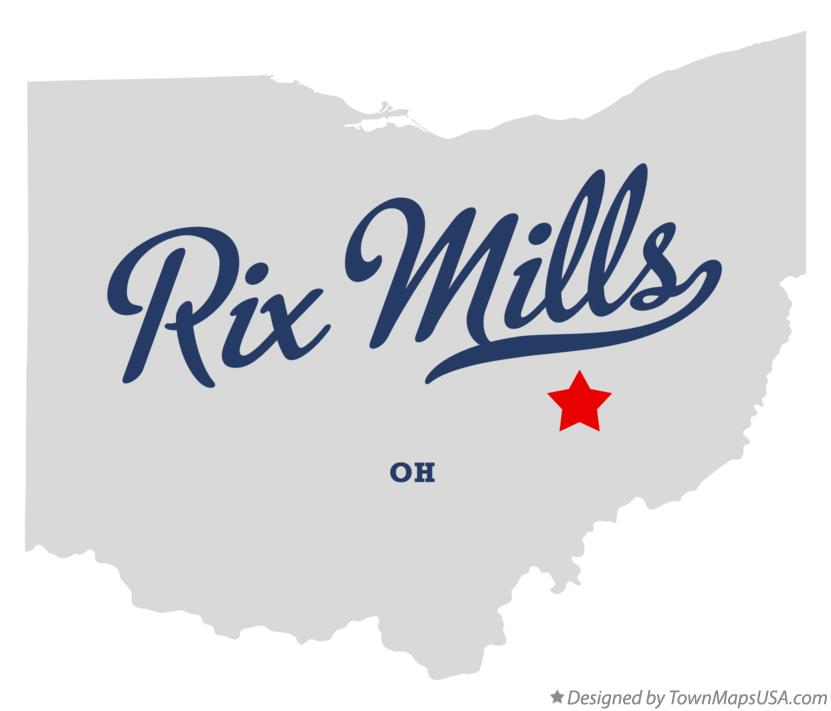 Map of Rix Mills Ohio OH