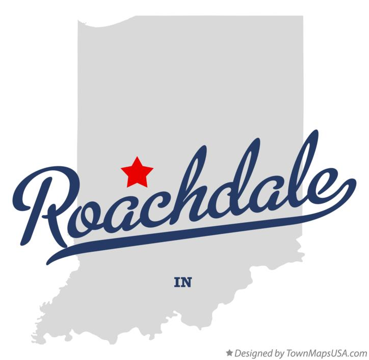 Map of Roachdale Indiana IN