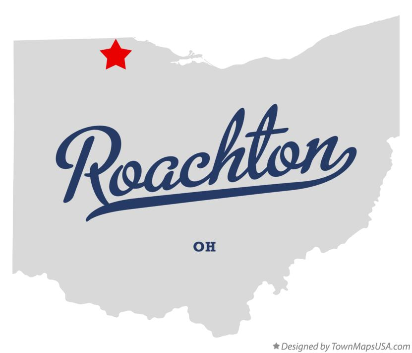 Map of Roachton Ohio OH