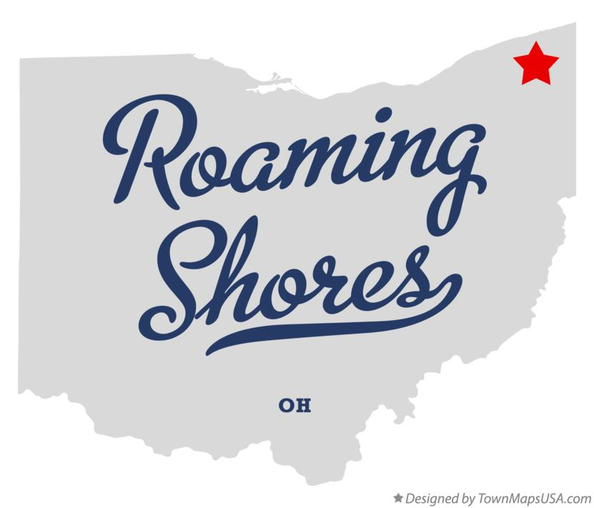 Map of Roaming Shores Ohio OH