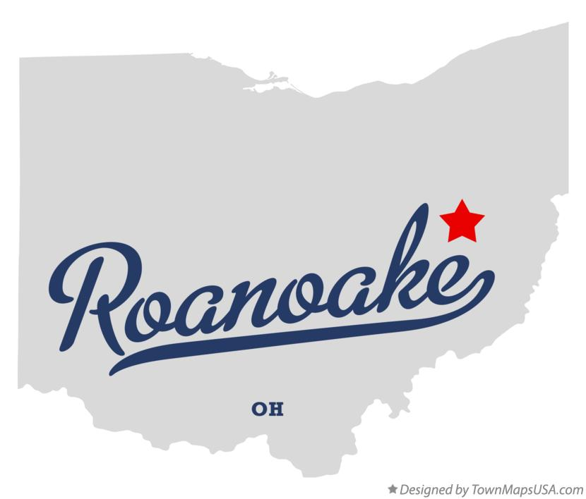 Map of Roanoake Ohio OH