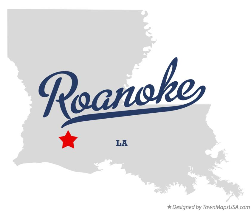 Map of Roanoke Louisiana LA
