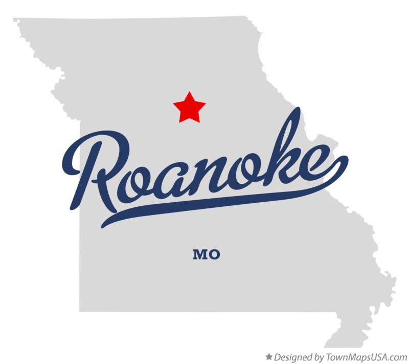Map of Roanoke Missouri MO