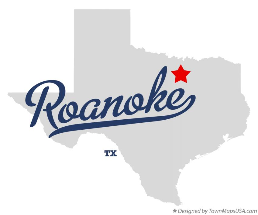 Map of Roanoke Texas TX