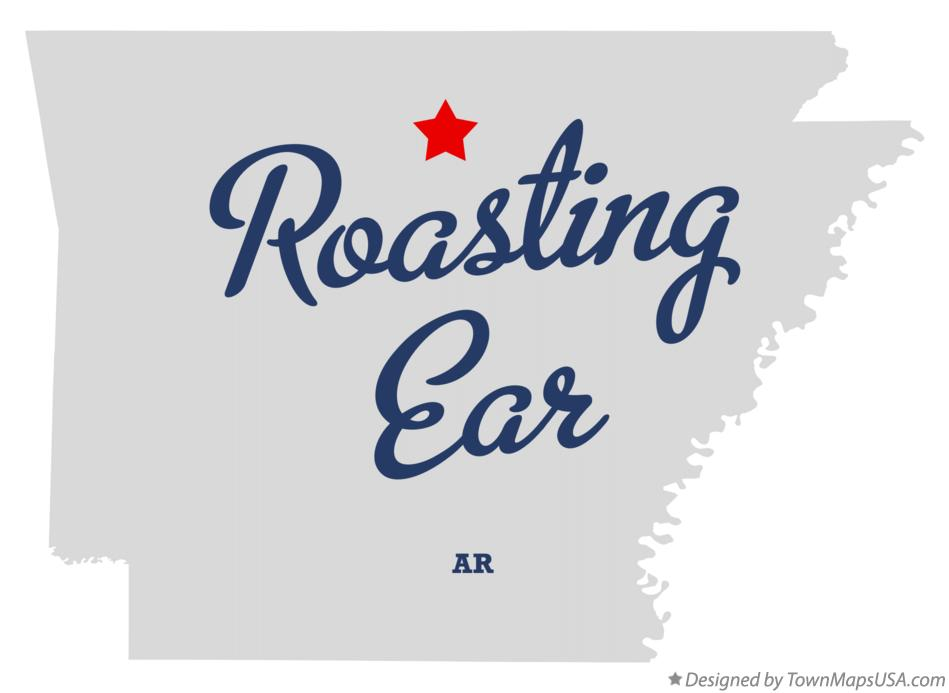 Map of Roasting Ear Arkansas AR
