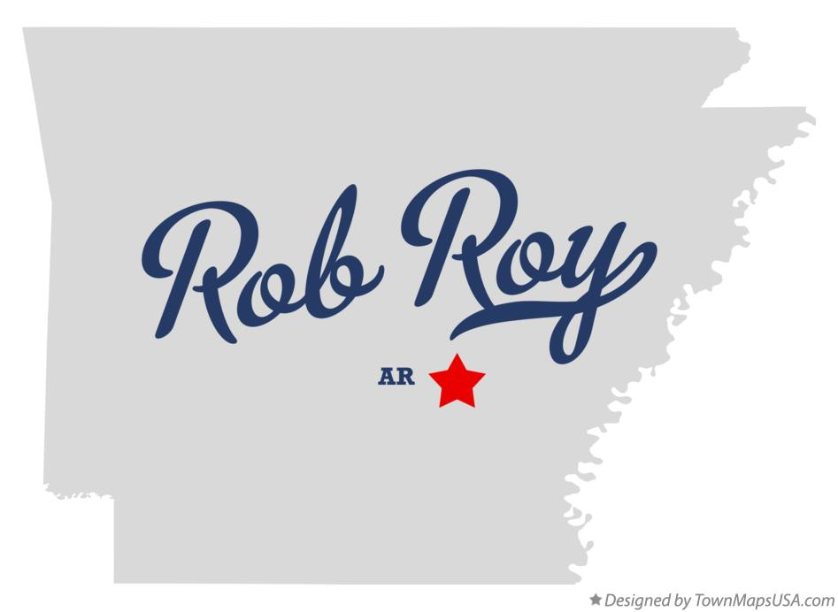 Map of Rob Roy Arkansas AR