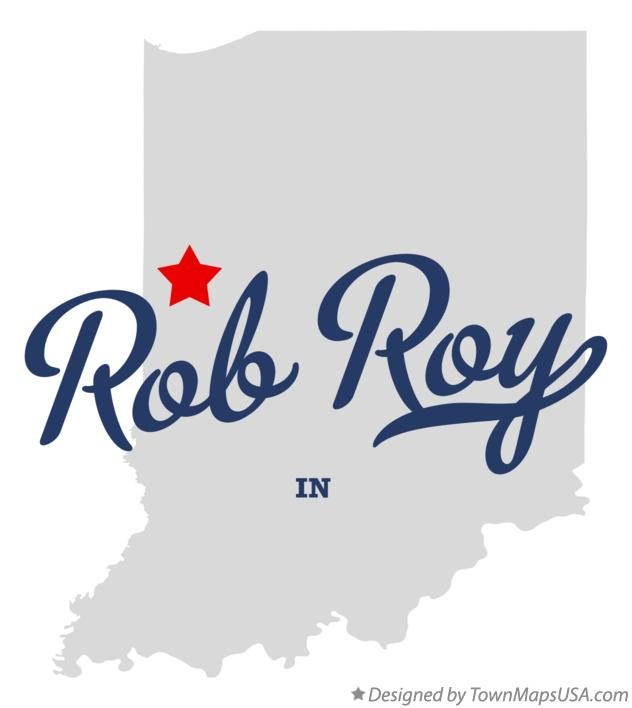 Map of Rob Roy Indiana IN