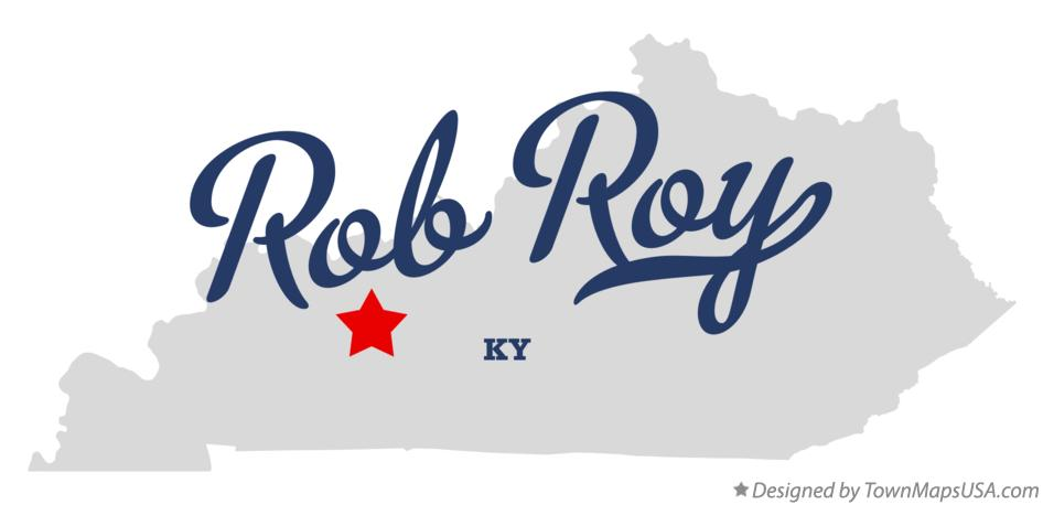 Map of Rob Roy Kentucky KY