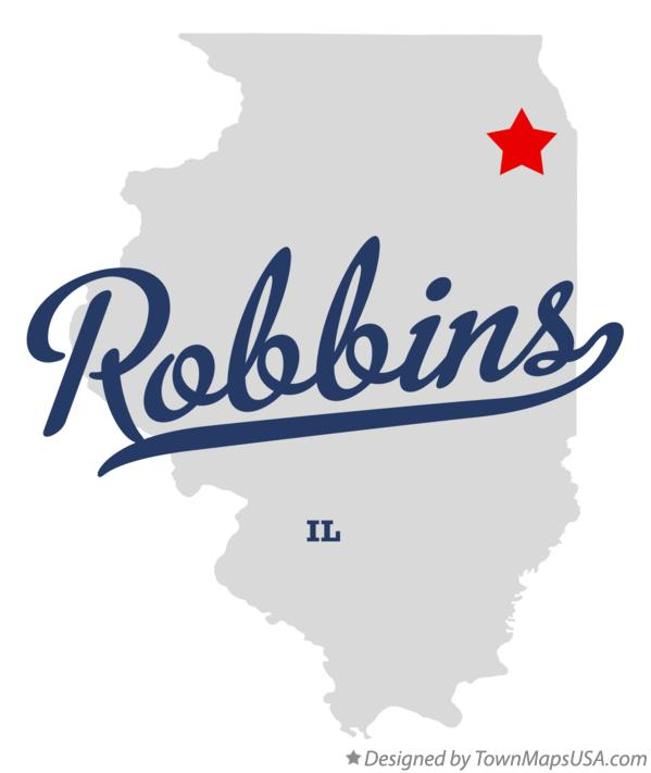 Map of Robbins Illinois IL