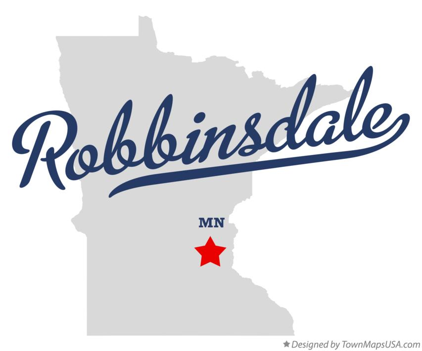 Map of Robbinsdale Minnesota MN