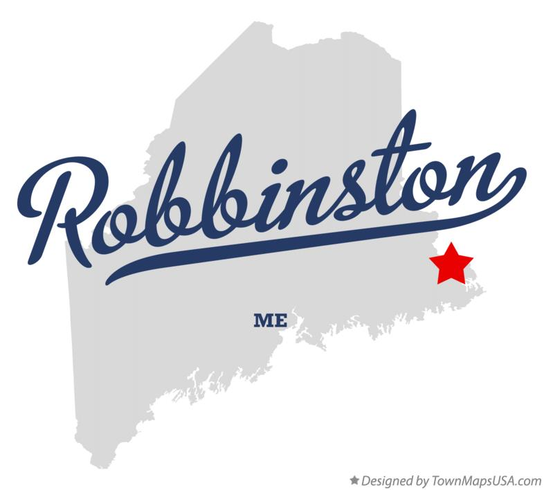 Map of Robbinston Maine ME