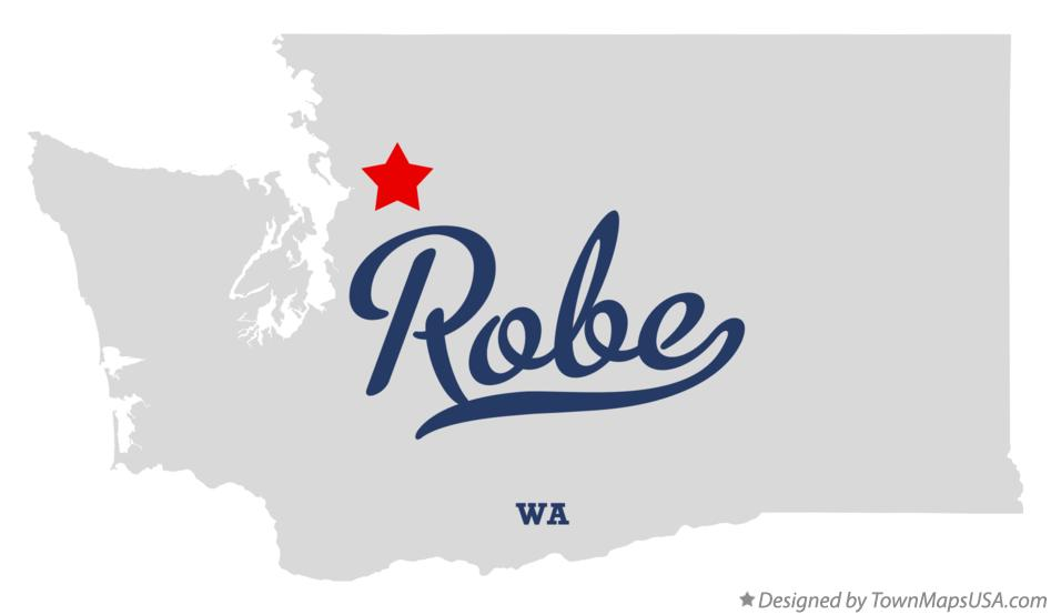 Map of Robe Washington WA
