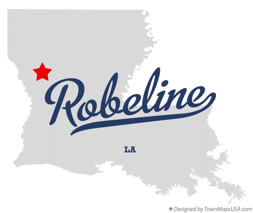 Map of Robeline Louisiana LA