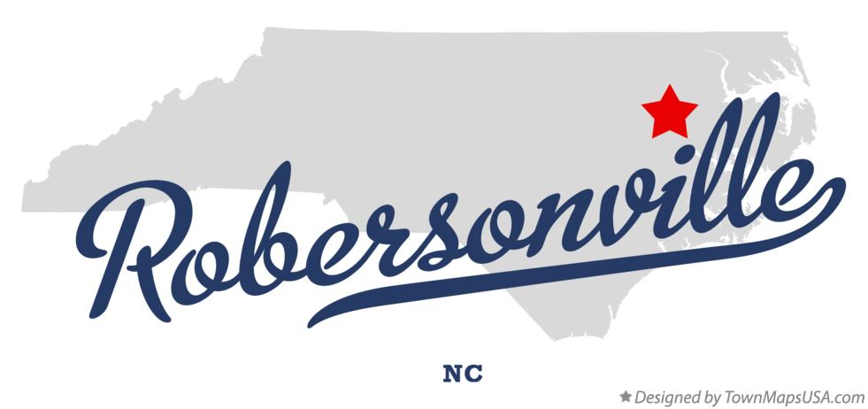 Map of Robersonville North Carolina NC