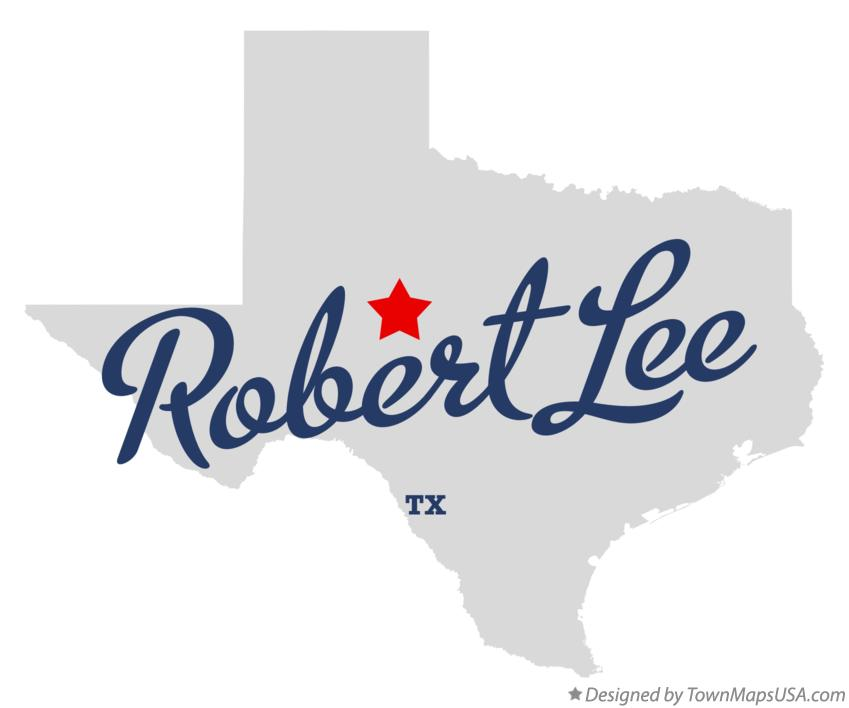 Map of Robert Lee Texas TX