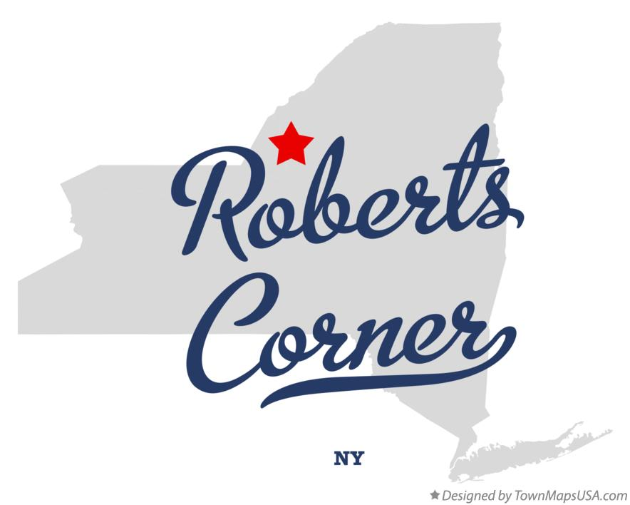Map of Roberts Corner New York NY