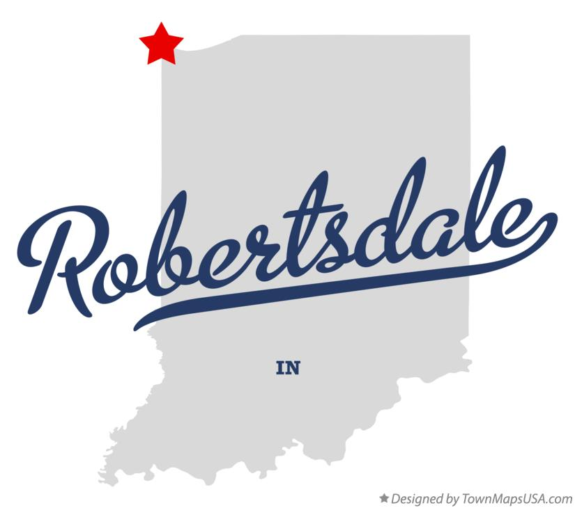 Map of Robertsdale Indiana IN