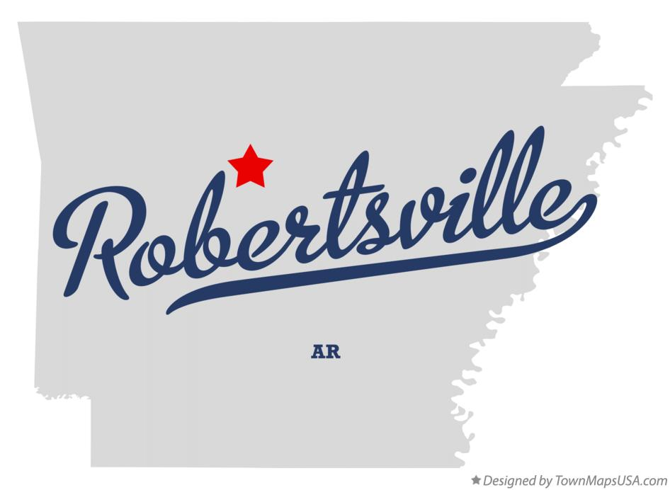Map of Robertsville Arkansas AR