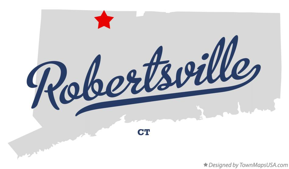 Map of Robertsville Connecticut CT