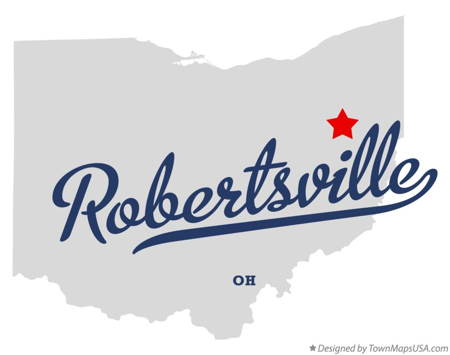 Map of Robertsville Ohio OH