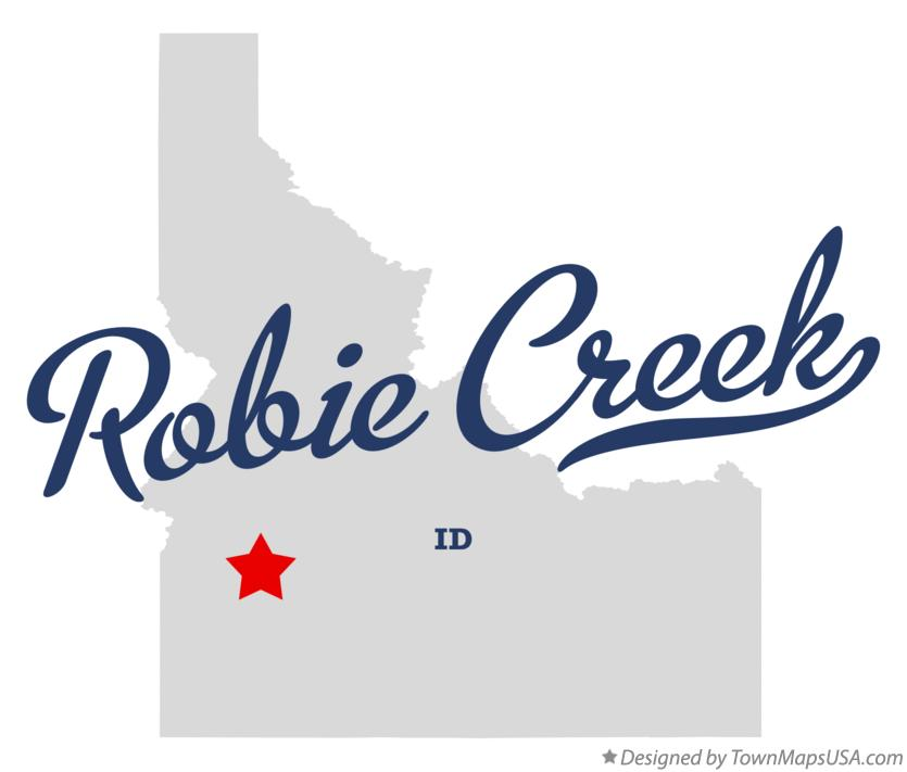 Map of Robie Creek Idaho ID