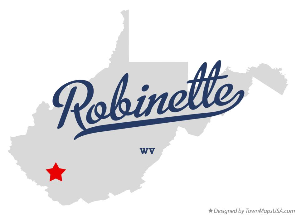 Map of Robinette West Virginia WV