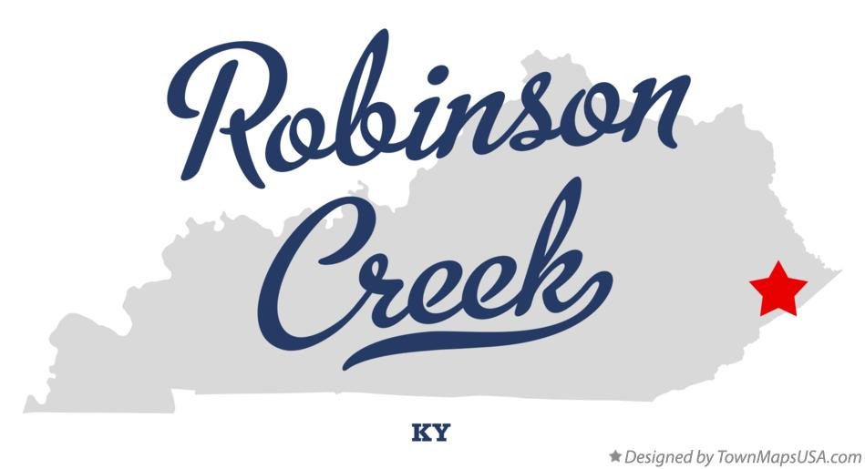 Map of Robinson Creek Kentucky KY