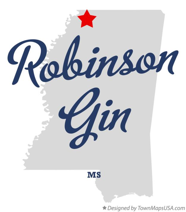 Map of Robinson Gin Mississippi MS