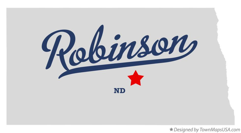 Map of Robinson North Dakota ND