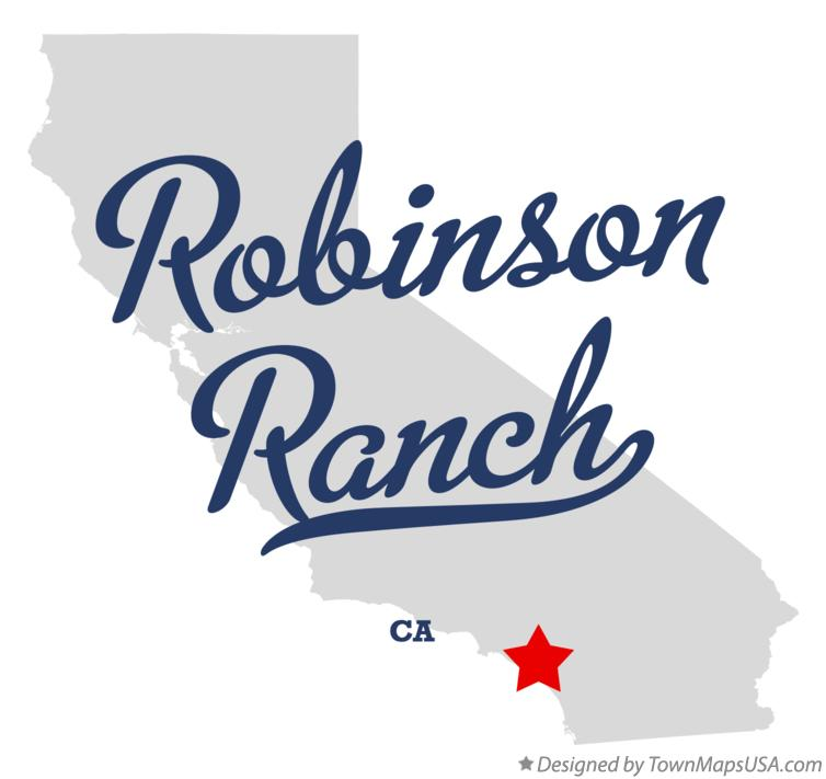 Map of Robinson Ranch California CA
