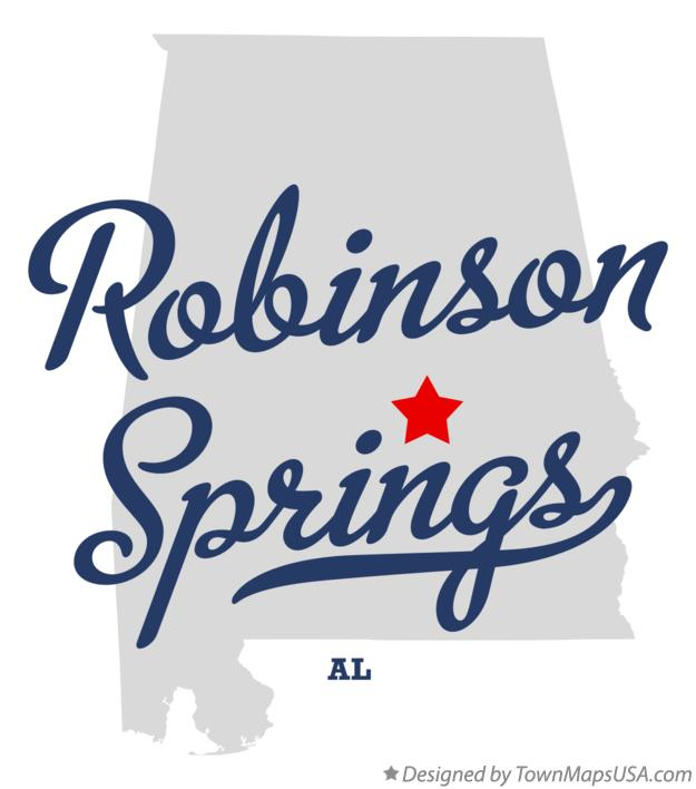 Map of Robinson Springs Alabama AL