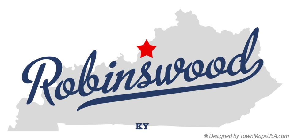 Map of Robinswood Kentucky KY