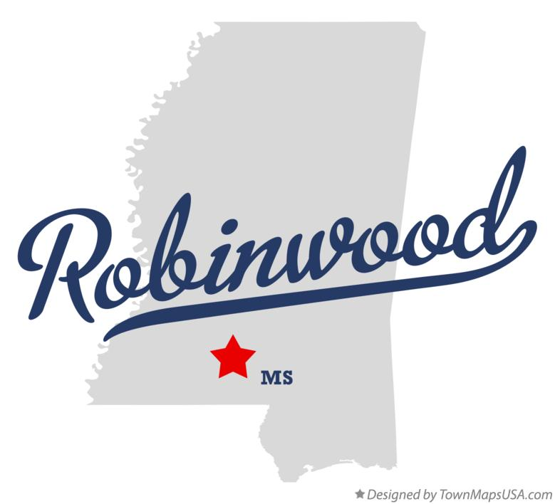 Map of Robinwood Mississippi MS