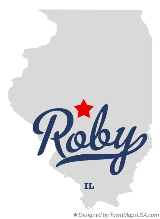 Map of Roby Illinois IL