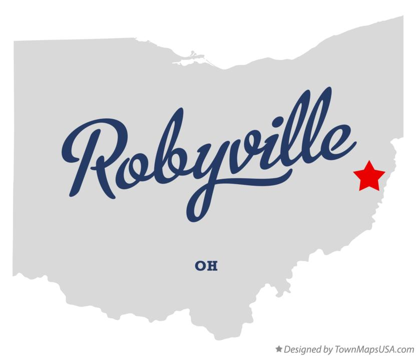 Map of Robyville Ohio OH