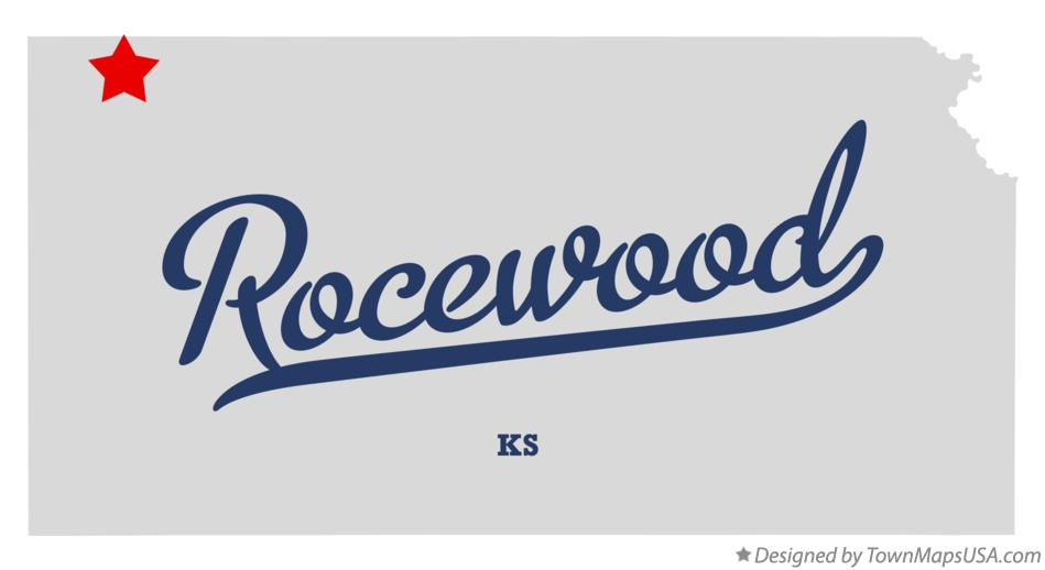 Map of Rocewood Kansas KS