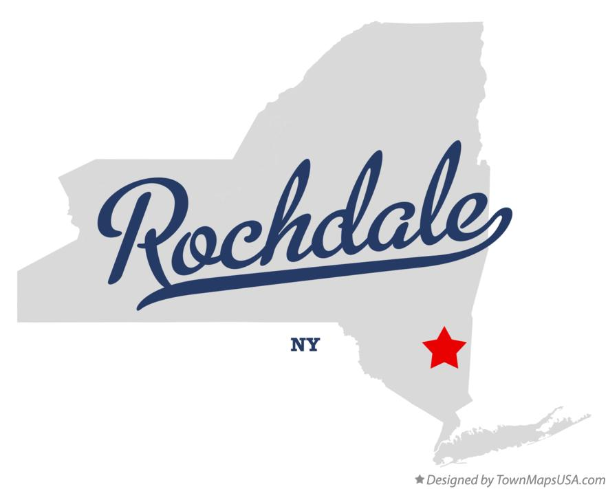 Map of Rochdale New York NY
