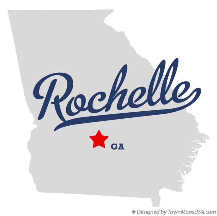 Map of Rochelle Georgia GA