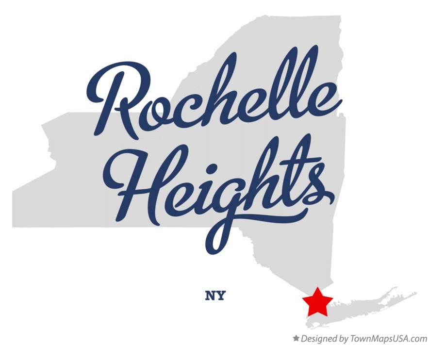 Map of Rochelle Heights New York NY