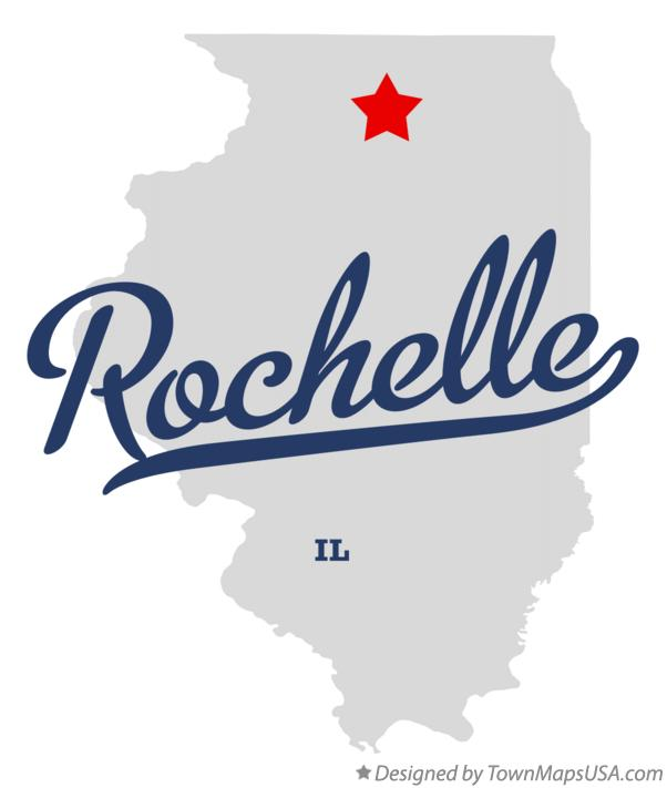 Map of Rochelle Illinois IL