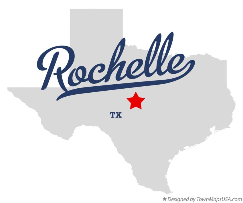 Map of Rochelle Texas TX