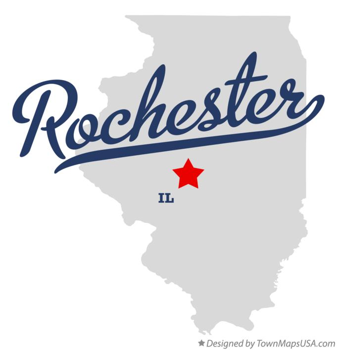Map of Rochester Illinois IL