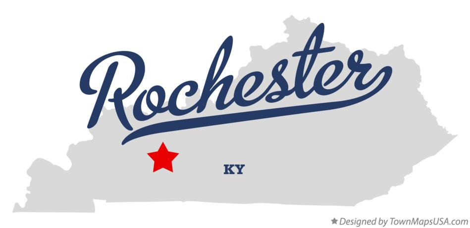 Map of Rochester Kentucky KY