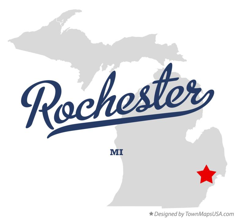 Map of Rochester Michigan MI