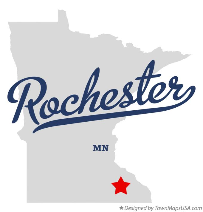 Map of Rochester, MN, Minnesota